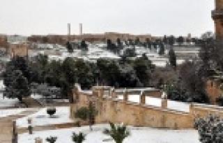 Urfa'ya kar geliyor