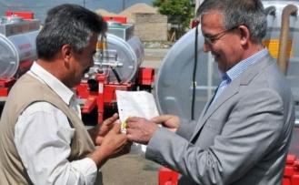 Akşehir'de 11 Köye Yangın Söndürme Tankeri