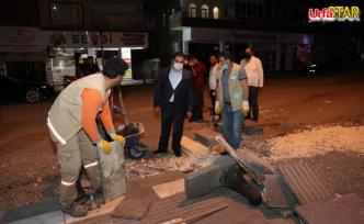Haliliye'de ekipler gece gündüz sahada