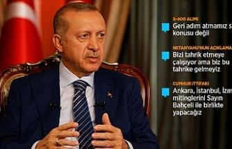 Erdoğan kırmızı çizgisini açıkladı...