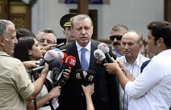 Erdoğan canlı yayını yorumladı...