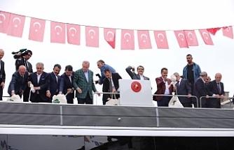 Erdoğan'a eşlik etti