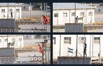 Telabyad'a ÖSO bayrağı çekildi