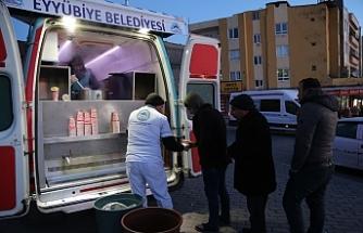 Eyyübiye'de vatandaşın içi ısınıyor