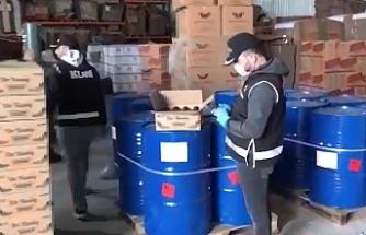 Urfa'da sahte üretim yapılan depo basıldı