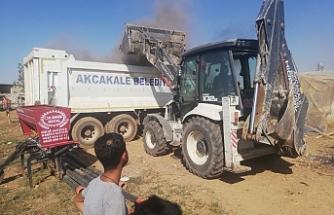 Akçakale'de kırsalı temizleniyor