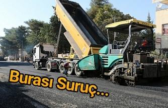 Büyükşehir sıcak asfalt çalışmalarını sürdürüyor