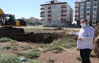 Viranşehir'de tren yolu parkı çalışmalarına başlanıldı
