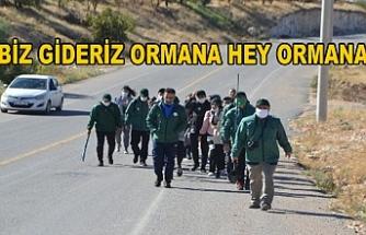Yeşilay öncülüğünde yürüyüşe çıktılar