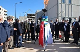Eyyübiye'de doğalgaz yakıldı