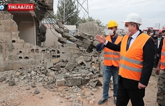 Eyyübiye'de kentsel dönüşüm için yıkımlar başladı