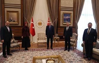 Siverek seçimi öncesinde Erdoğan'ı ziyaret ettiler...