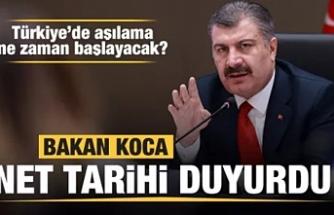 Türkiye'de ilk aşı ne zaman yapılacak?