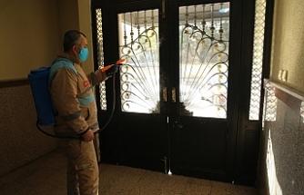 Haliliye'de dezenfekte çalışmaları sürüyor