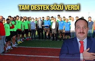 Ekinci'den Futbolculara Moral Ziyareti