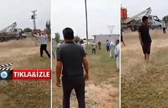 Harran'da gergin dakikalar! Asker havaya ateş açtı