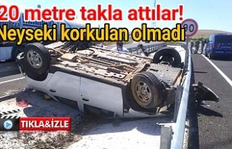 Urfa'da Dedaş personelleri kaza yaptı!