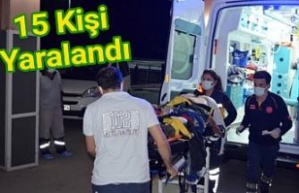 Urfalı tarım işçilerini taşıyan minibüs kaza yaptı!