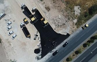 Urfa'da ki o yol tek şerit olarak trafiğe açıldı