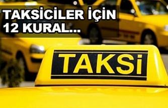 İçişleri Bakanlığı'ndan 81 ile 'taksi' genelgesi!