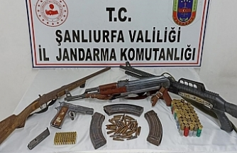 Siverek'te silah kaçakçılarına operasyon!