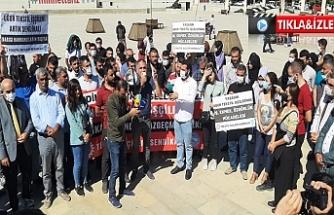 Urfa'da işten çıkarılan işçilere destek verdiler