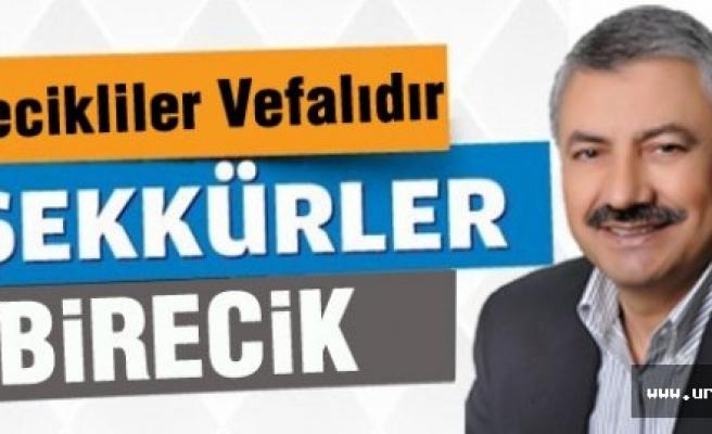Başkan Pınarbaşı'ndan kutlama...