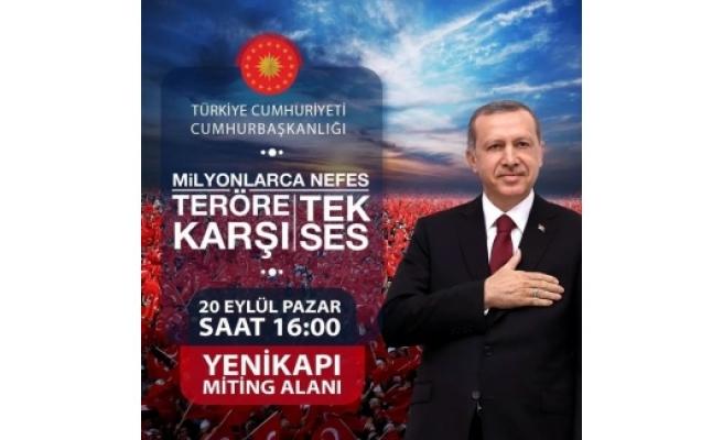 Cumhurbaşkanı Erdoğan'dan Yenikapı'ya Tweetli Davet