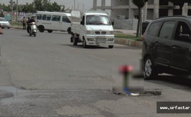 Urfa'da asfalta öyle bir şey koydular ki..