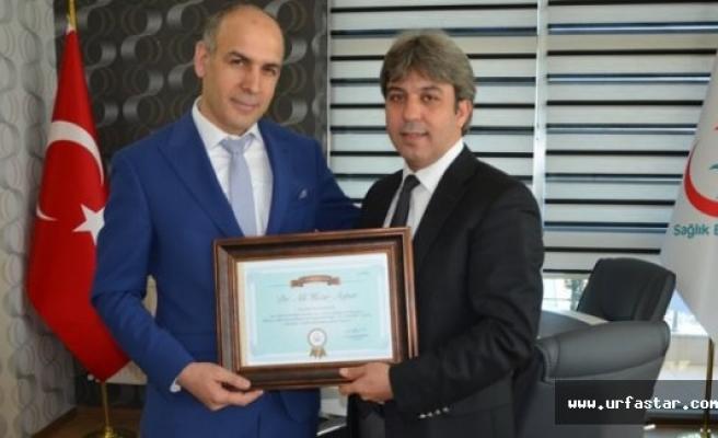 Urfa'da yılın doktoru belli oldu
