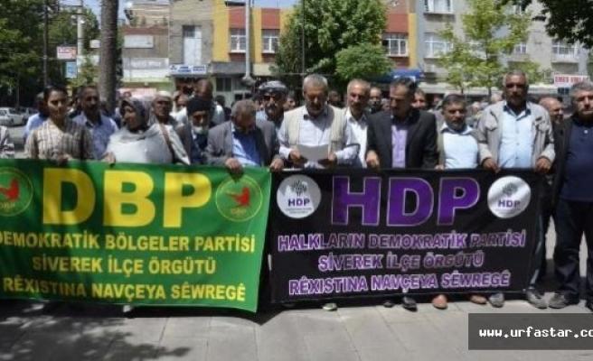 Siverek'te gözaltı protestosu
