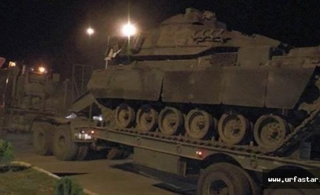 Urfa'ya tank sevkiyatı yapıldı