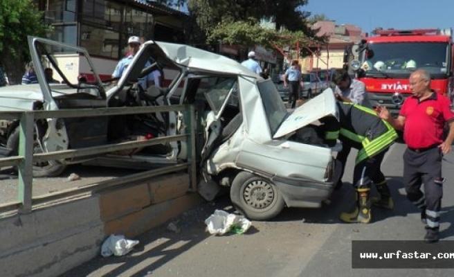 Urfa'da şok eden kaza...