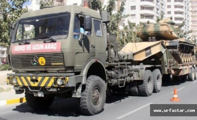Urfa'dan, Suriye sınırına tank sevkiyatı