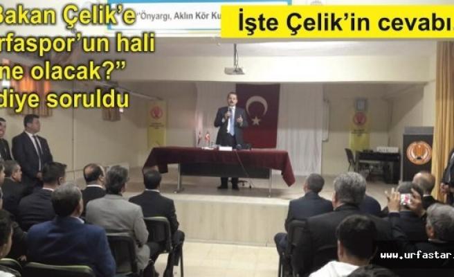 Bakan Çelik'ten esprili Urfaspor cevabı...