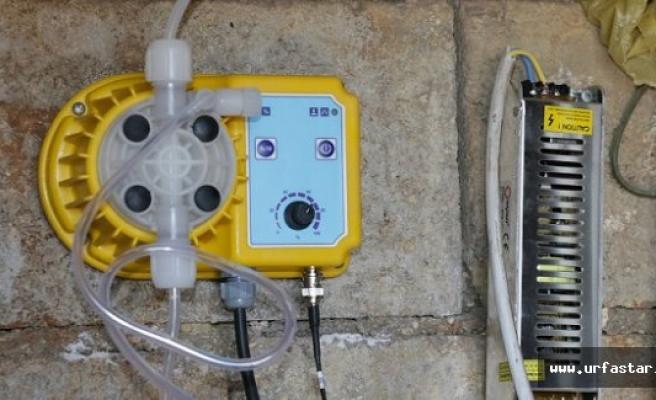 Urfa'da depolara klor cihazı takılıyor