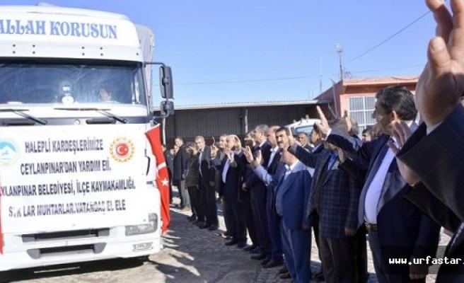 Halep'e 3 tır yardım malzemesi gönderildi
