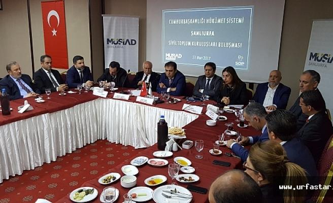 Cumhurbaşkanlığı sistemi için Urfa'da buluştular...