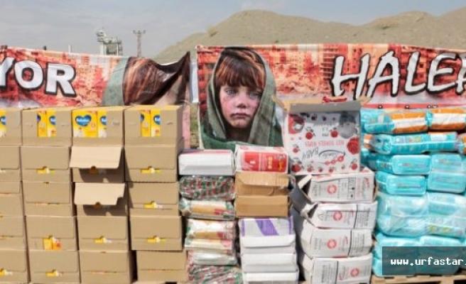 Suriye'ye 6 tır yardım malzemesi gönderildi