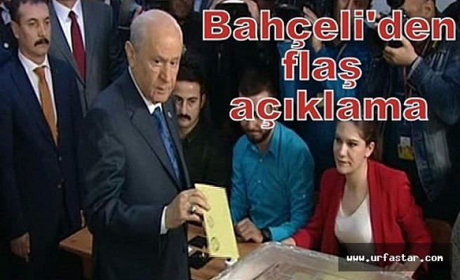 MHP Lideri Bahçeli'de oyunu kullandı