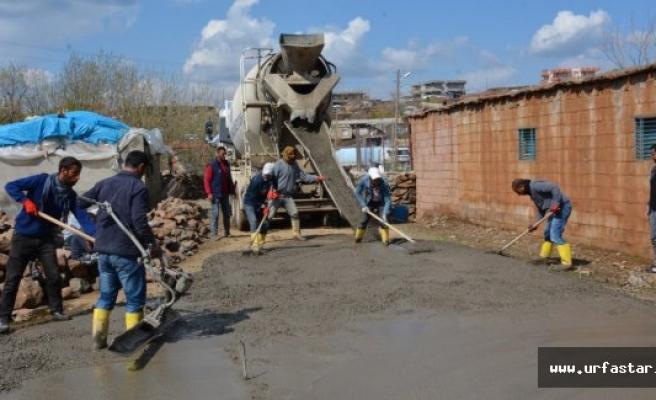 Siverek kırsalında beton çalışmalarına başlandı