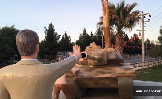 Urfa'ya 15 Temmuz anıtı dikildi