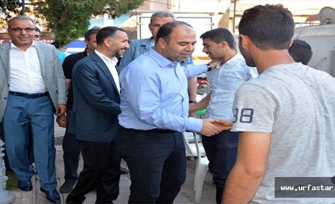 Başkan Çiftçi ve Yılmaz vatandaşlarla iftar çadırında iftar açtı