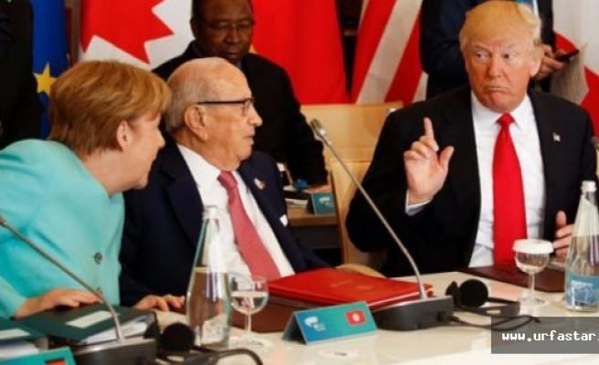 Trump ile Merkel birbirine girdi