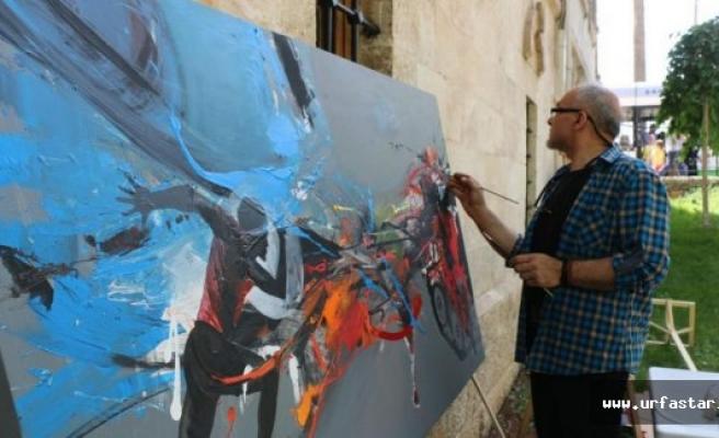 Urfa'da '15 Temmuz darbe girişimi' konulu resim çalıştayı