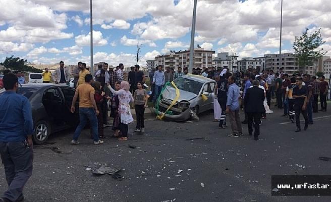 Urfa'da gelin arabası kaza yaptı!