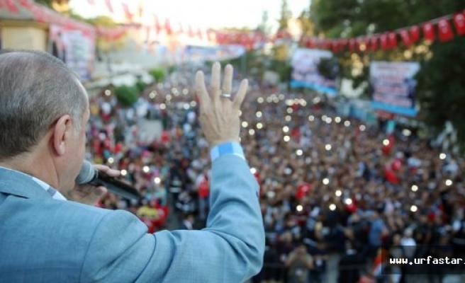 Erdoğan, Akçakale'den Amerika'ya Seslendi