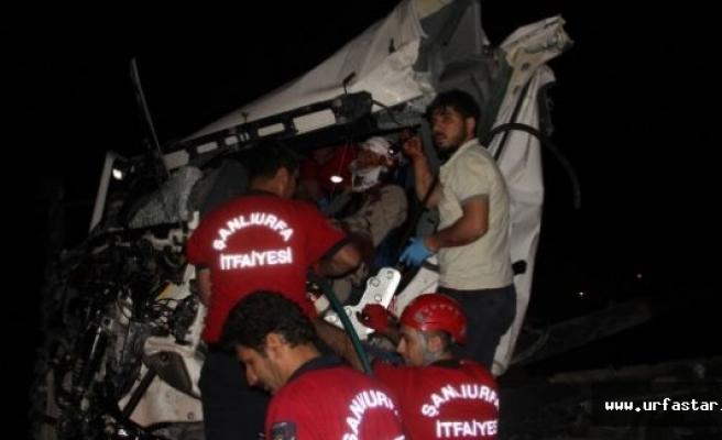 Sürücü yarım saat sonra kurtarıldı