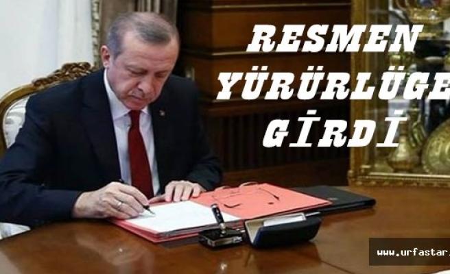 Erdoğan imzaladı