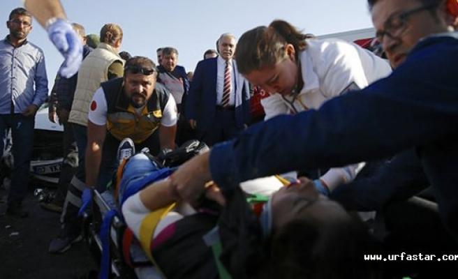 Fakıbaba'nın konvoyunda kaza..